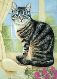 pet cat portrait painting