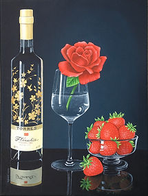 Acrylic painting still life