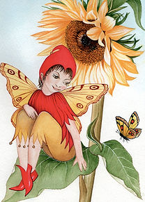 sunflower painting fantasy art