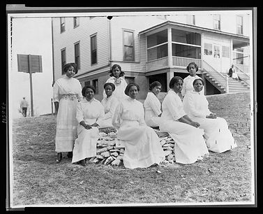 Group of students at the National Trade School. Courtesy of the Library of Congress, Nannie Helen Burroughs papers