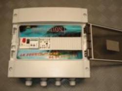 Coffret à flussostat protection manque d'eau et inversion de phase