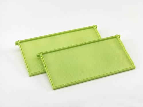 Green deep wax coated plastic drone frame and foundation