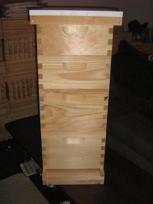 10 frame 4 box pine beehive