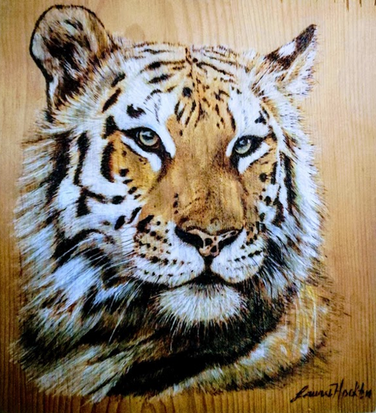 Pyrographic Tiger