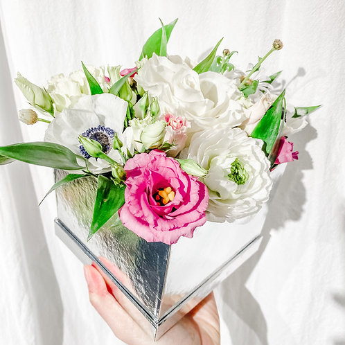 Sliver Flower Box (Square)
