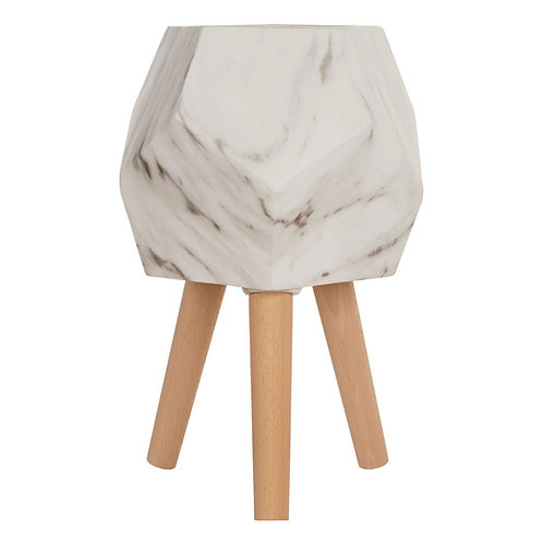 Darnell Faux Marble Planter