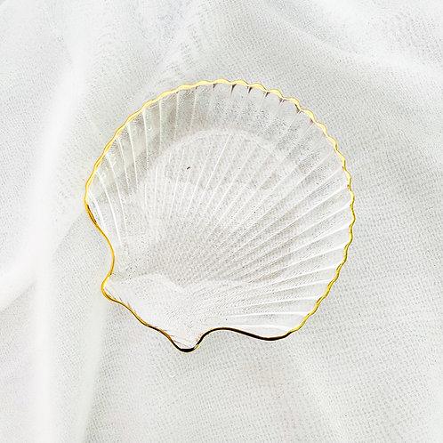 Shell Glass Deseert Plate