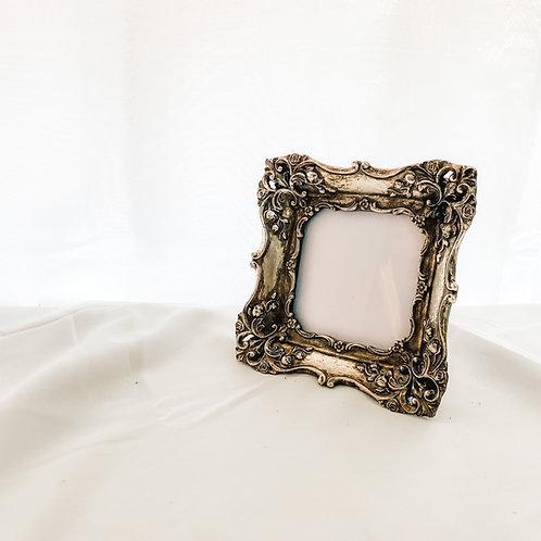 Antique Metallic Silver Ornate Photo Frame 4'4