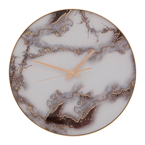 Celina Marble Effect Wall Clock