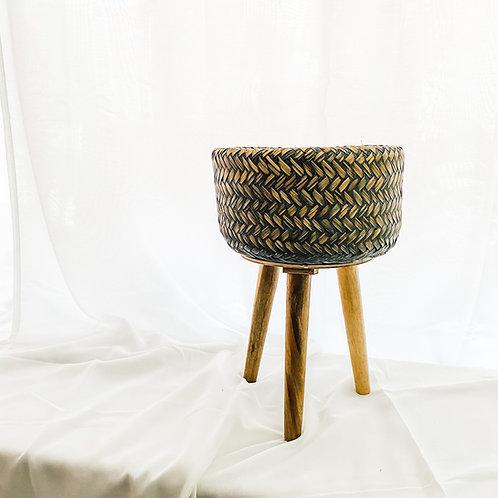 Bamboo Baskets on Foot Dark