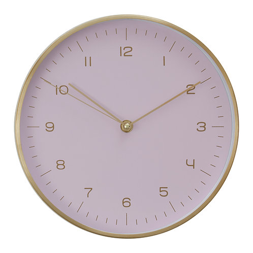 Elko Gold / Pink Finish Wall Clock