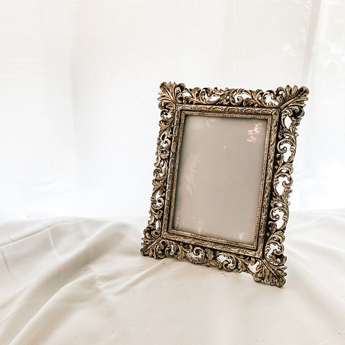 Antique Champagne Ornate Cut Out Photo Frame 5'7