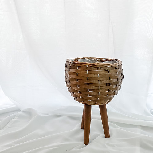 Basket Bowl Pot with Stand