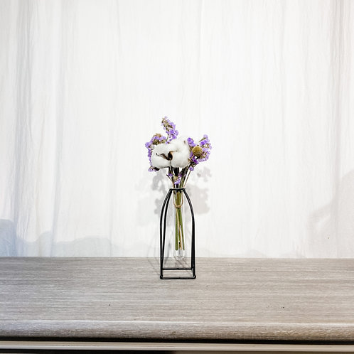 Glass Tube with Frame Vase