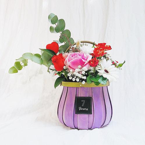 Wooden Flower Basket