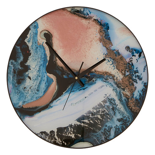 Celina Pink / Blue Wall Clock