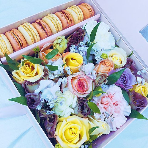 Flower Box with Sweets (Rectangle)