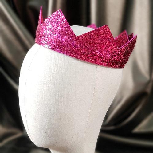 Magenta Glitter Modern Crown