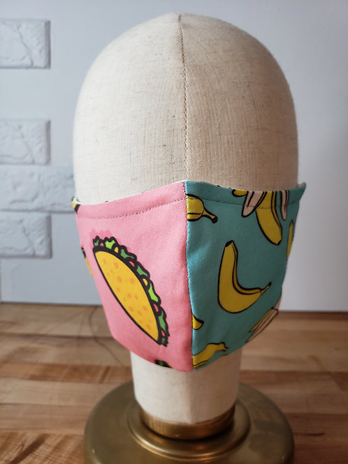 Mask: Tacos and Bananas