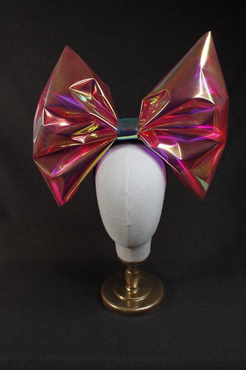 Iridescent Head-Band Bow