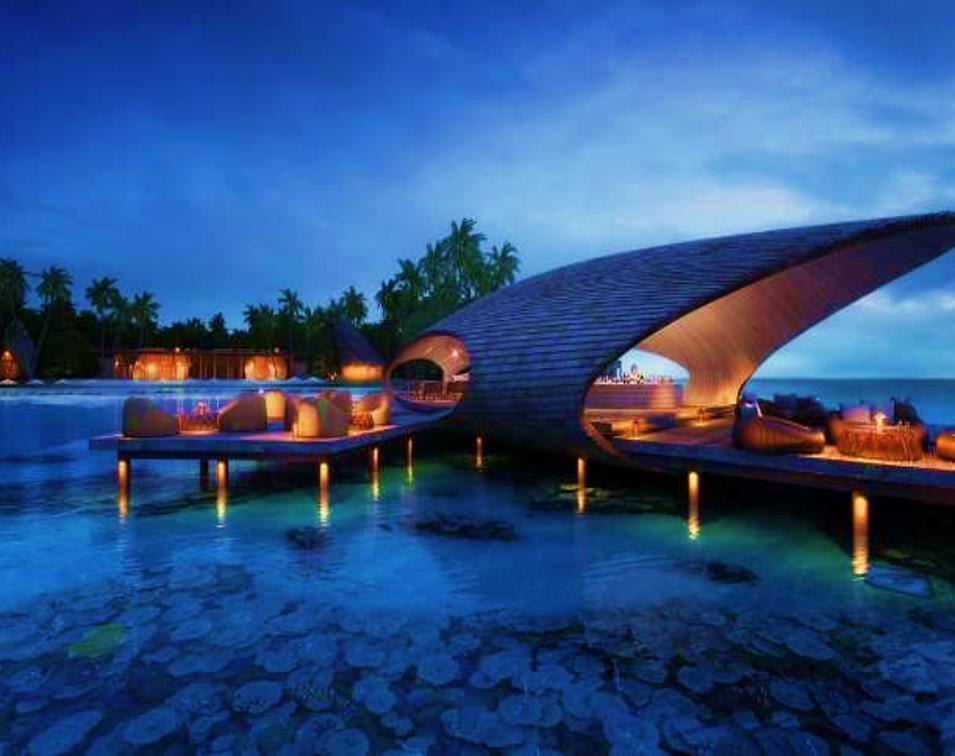st regis maldives whale bar