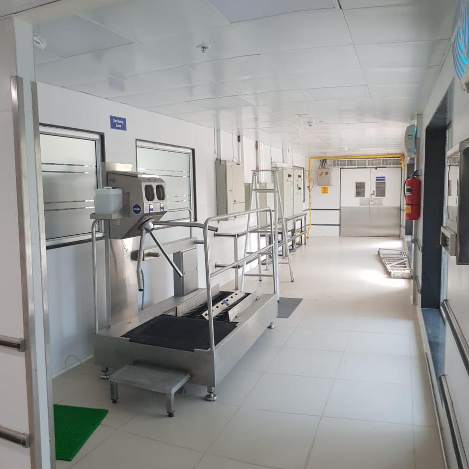Hygiene Station at Central Kitchen Entry