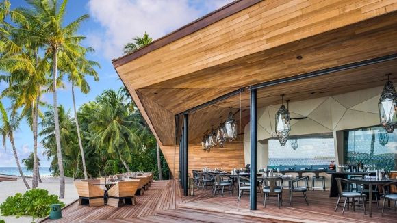 Orientale Origami Shaped Pan Asian Restaurant St. Regis Maldives