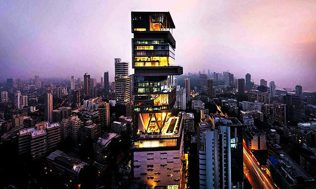 Antilia - The Ambani Residence , Mumbai , India