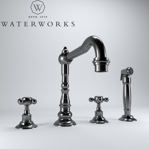 Waterworks Julia Three Hole Kitchen Faucet | highqshop