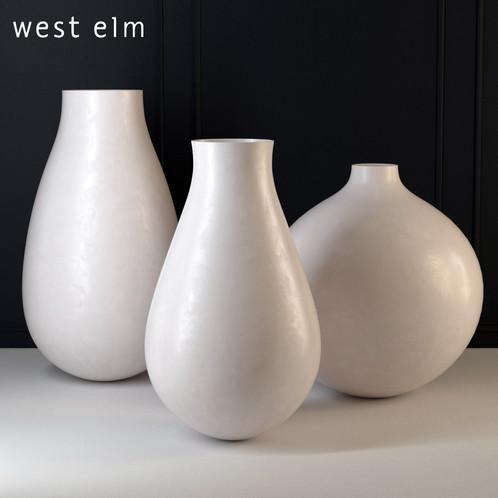 vase blue gilded pair gerald ceramic cream glazed site vases ceramics bland