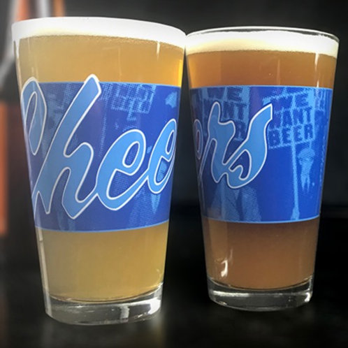 """Cheers"" Pint Glass"