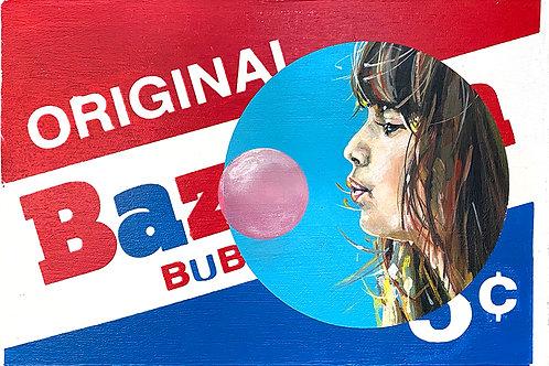 Bazooka - Girl in Blue Circle