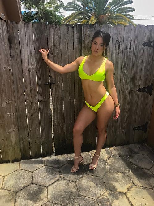 Neon Yellow Bikini Set