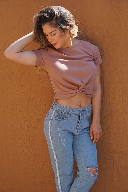 Knotted Crop Tee