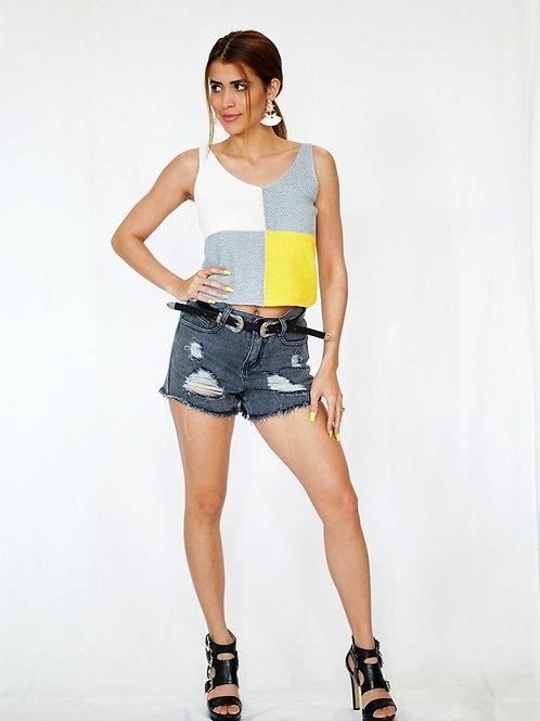 Grey Demin  Shorts