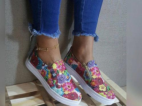 Floral Print Slip On Sneaker