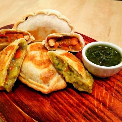 Morocco(spicy vegan) and caprese empanad