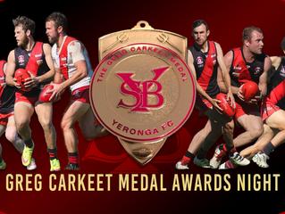 Greg Carkeet Medal Awards Night