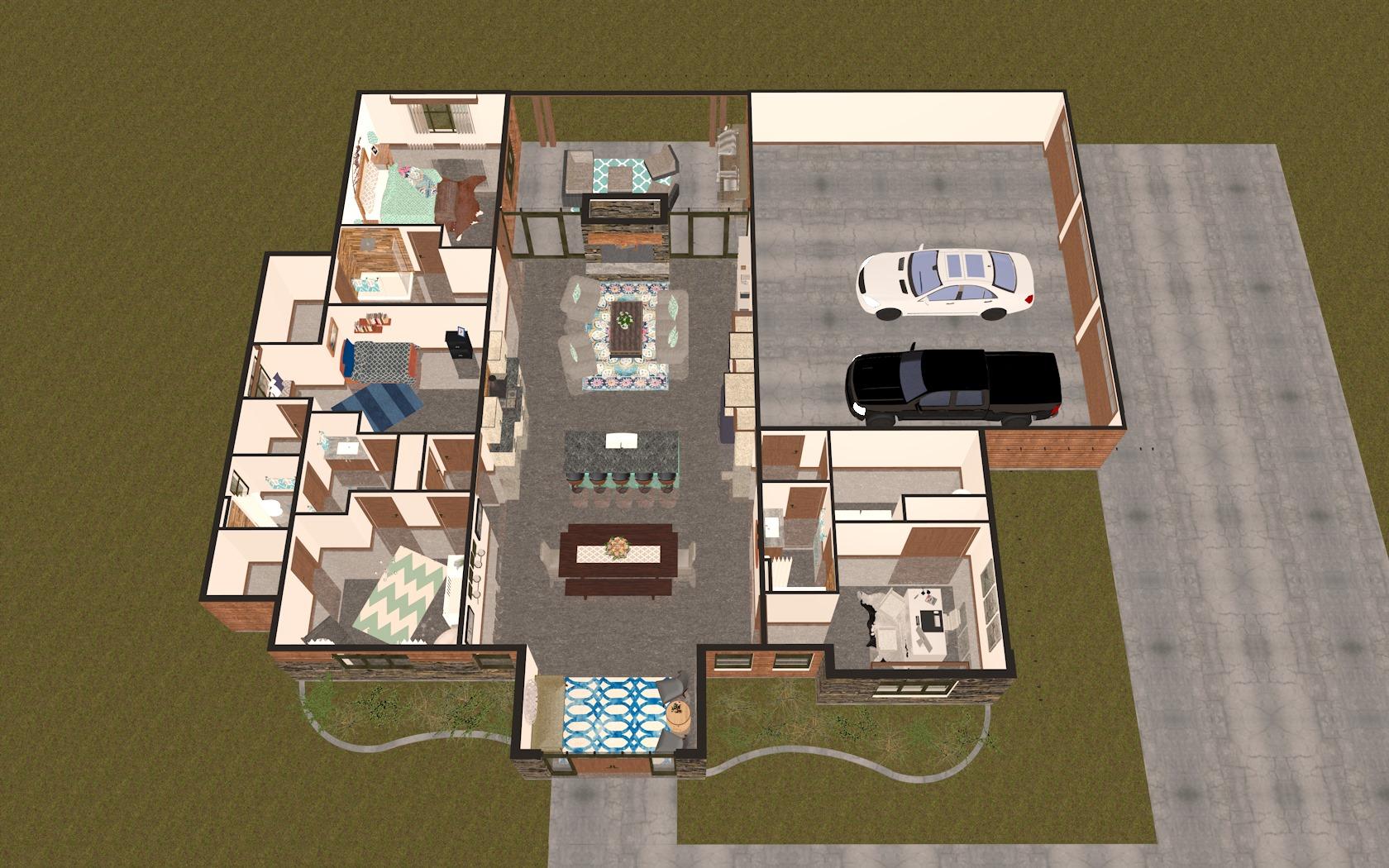 3D Main Floor Plan