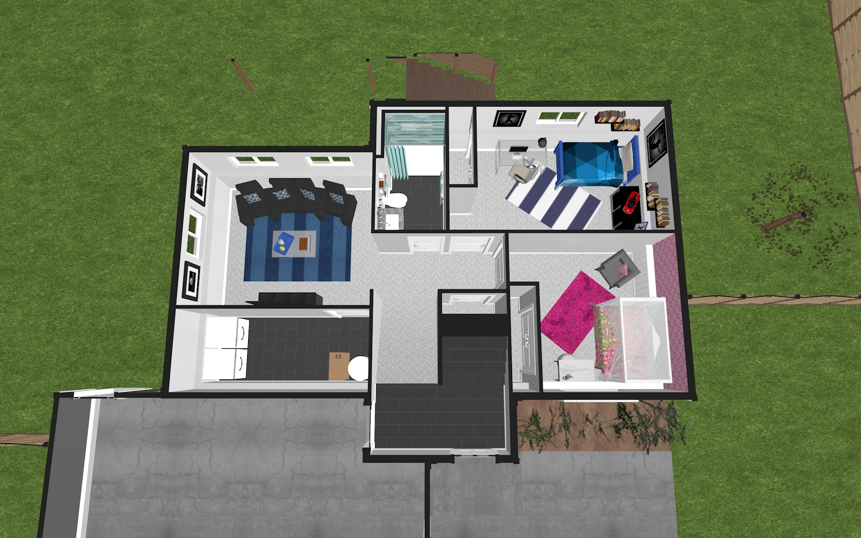 3D Lower Floor Plan