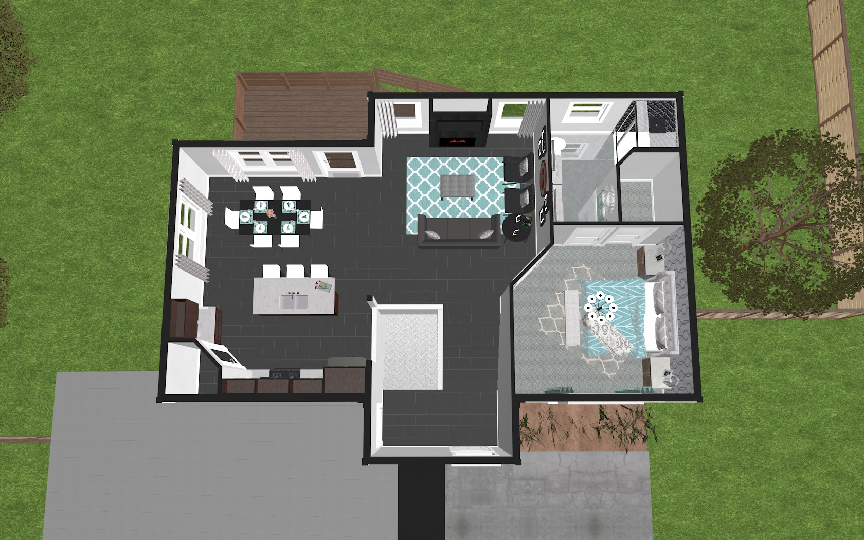 3D Upper Floor Plan