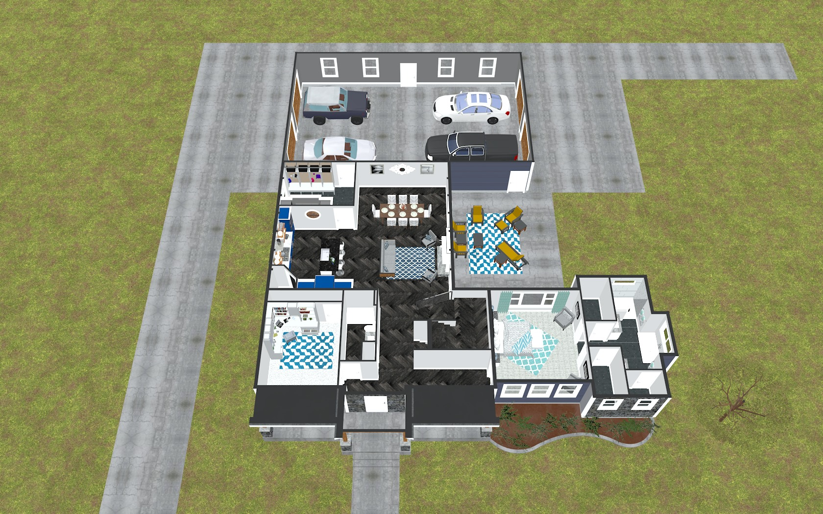 3D First Floor Plan