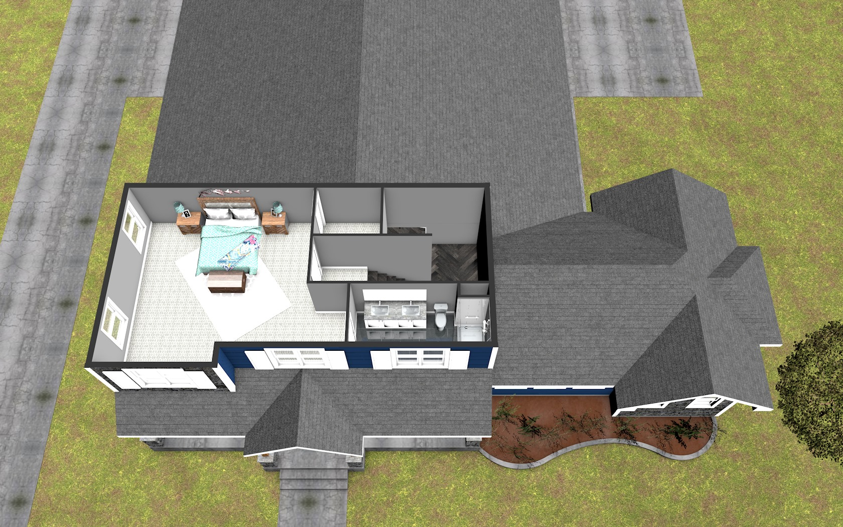 3D Second Floor Plan
