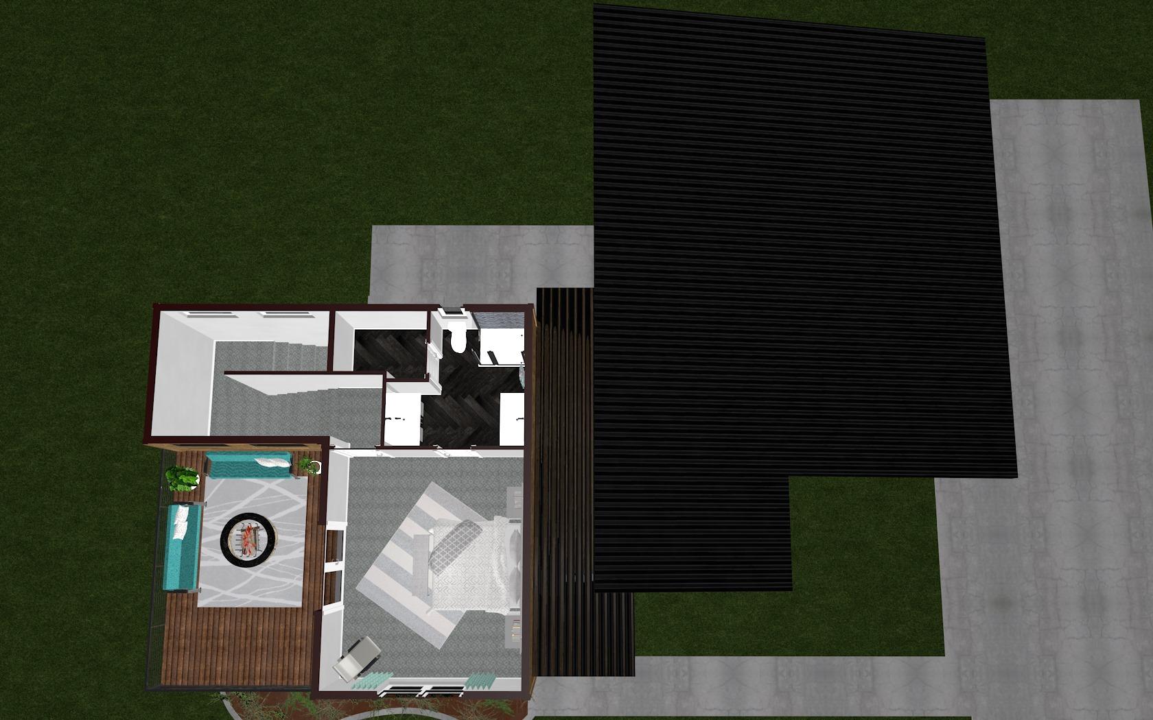 3D Second Floor Plan