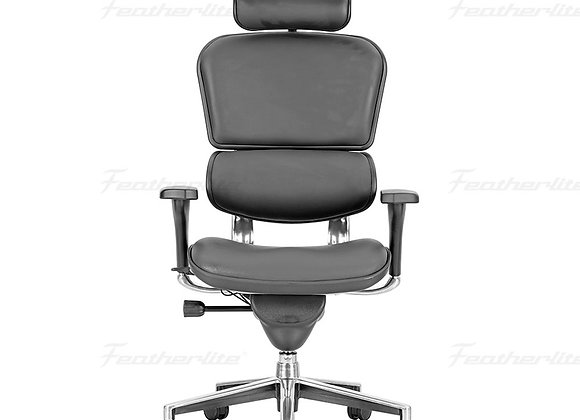 Pinnacle High Back Leather Revolving Chair