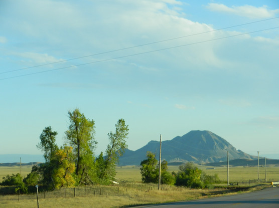 On 79 with Bear Butte