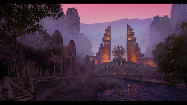 Sunset-temple