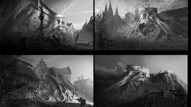 Black and white mood sketches