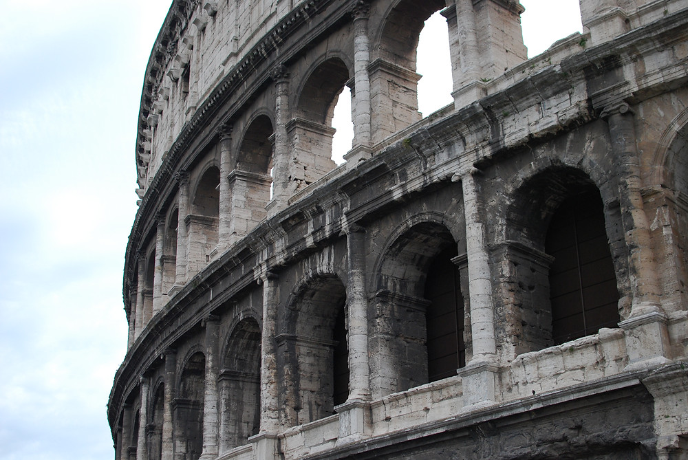 Rome Colosseum at an angle