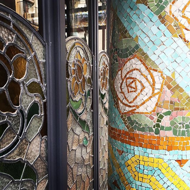Rose mosaic Palau de musica Barcelona